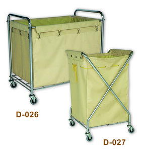 D-026 Rectangle Laundry cart & D-027 X Laundry cart